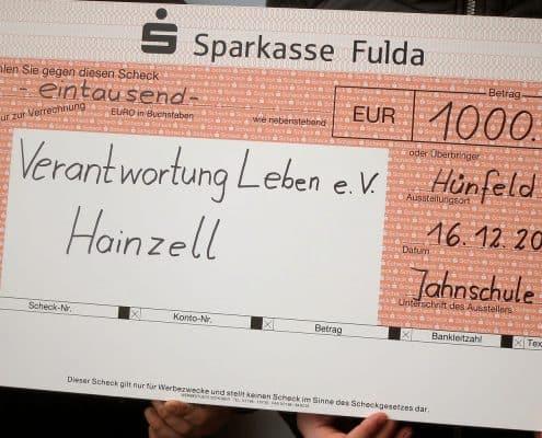 Jahnschule spendet in Hainzell